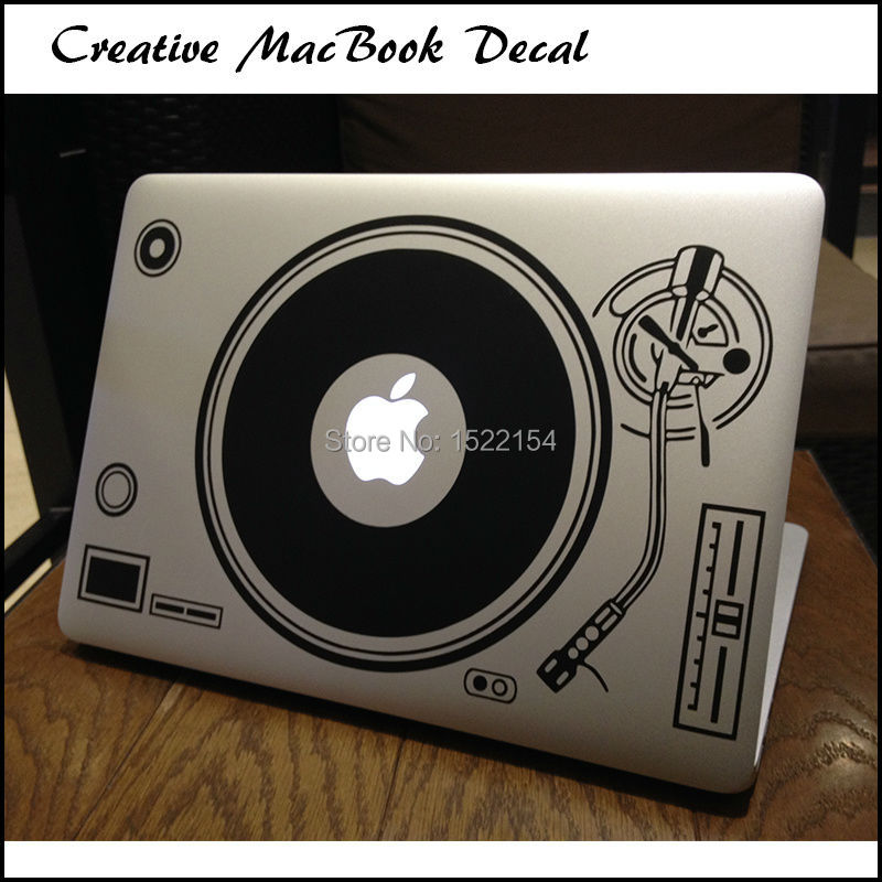 Dj Technics Deck Record Player Laptop Sticker For Macbook