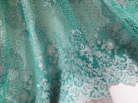 2015 latest gorgeous mint green guipure lace african cord lace chemical lace fabric with stones for Nigeria wedding dresses