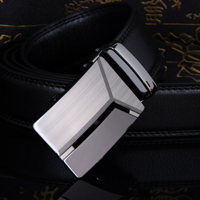 Handmade band man Ratchet Dress Belt men's genuine leather belt with Automatic Buckle