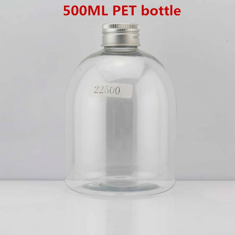 500 ml cosmetic eco jar bear shape Aluminum Lid PET Honey candy mason jar