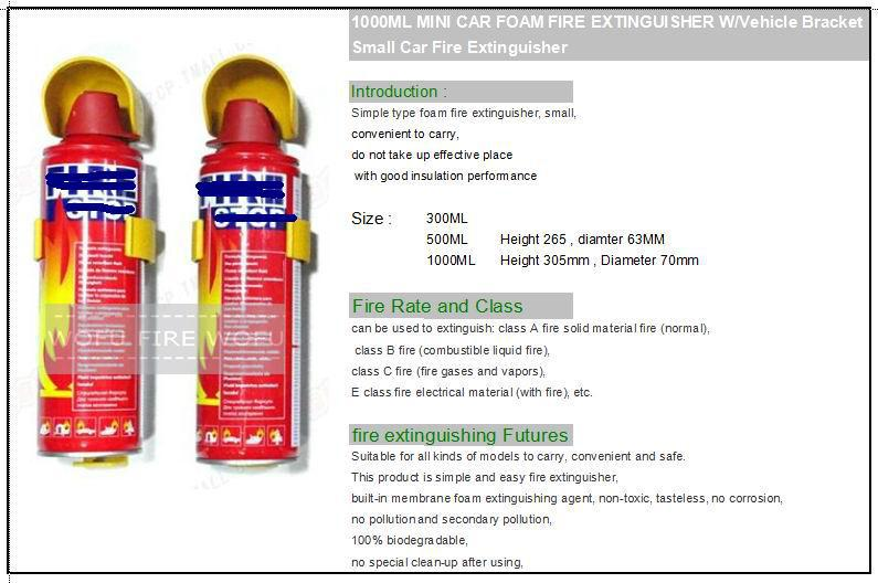 how to clean fire extinguisher from car