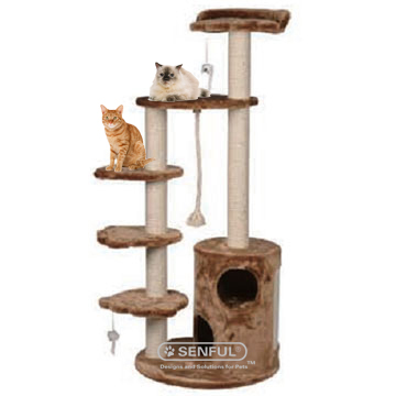 Indoor cat tree house China manufacturer