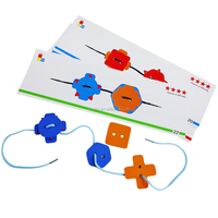 Lovely Funny New Products for 2016 Wooden Blocks Educational Toys Magic String Train Set Chinese Manufacturer