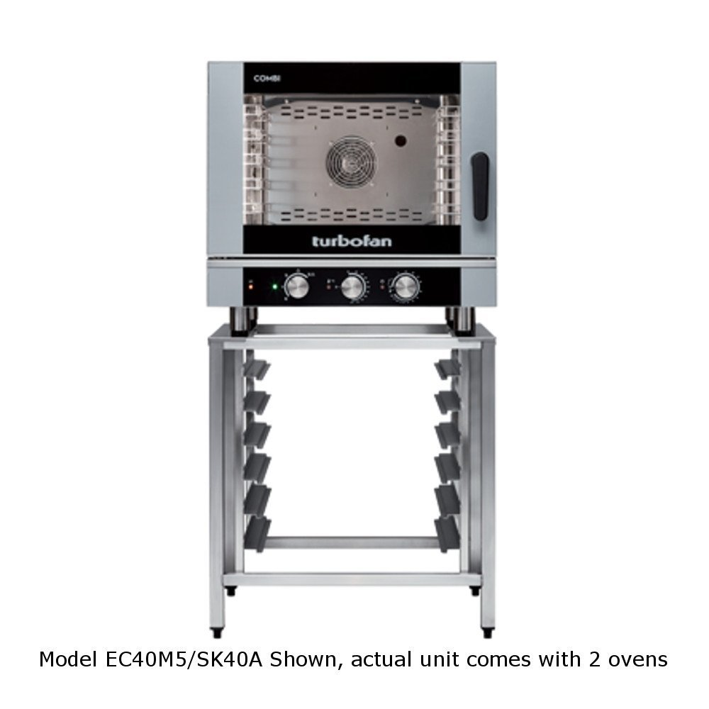 Get Quotations · Moffat EC40M5/2 Turbofan Electric Full Size Double Stack  Combi Oven, (5)