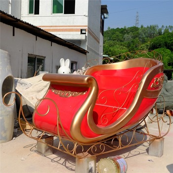 customized outdoor christmas fiberglass santa sleigh decoration - Outdoor Christmas Sleigh Decorations