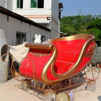 customized outdoor christmas fiberglass santa sleigh decoration - Outdoor Christmas Sleigh Decorations