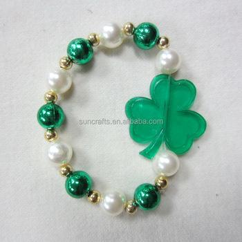 St Patrick S Day Bracelet W Transpa Shamrock