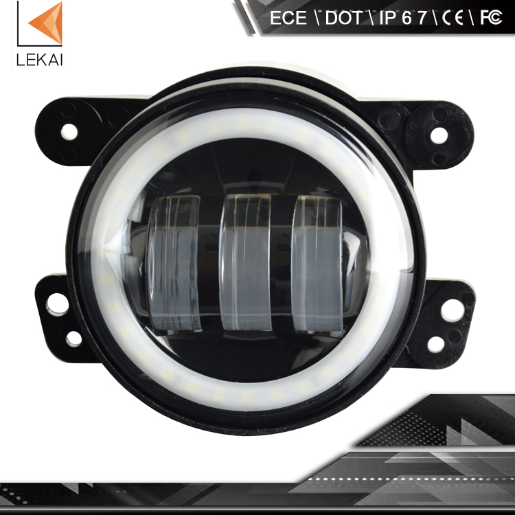 hot sale, DOT and ECE, 30w 4inch led motorcycle and car fog light with DRL