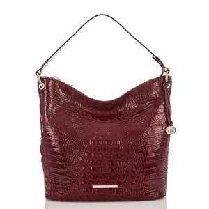 Red croco pu hobo bag woman handbags brand crocodile skin bag