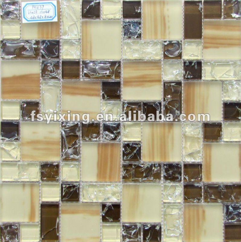 Grueso 8mm Vitrificados Azulejos De Mosaico De Vidrio Mu37 Vidrio ...