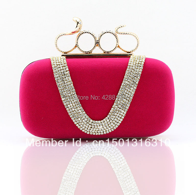 b0949262572e0 Get Quotations · FREE SHIPPING+2015 Luxury women's Crystal evening clutch  bag shinny diamond bridal bags snake Knuckle