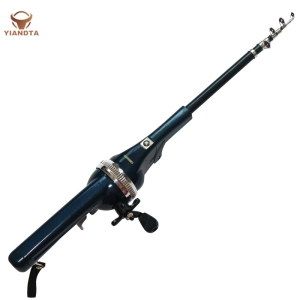 Foldable Fishing Rod Fish Line Lntegral Wheel Portable Fishing Rod