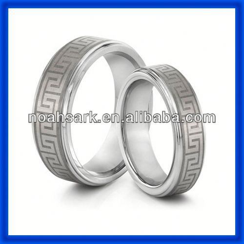 Noahs Ark celtic tungsten carbide wedding bands ring with laser TPCR152