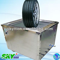 Mobile car wheel washing machine ultrasonic cleaning with timer and heater