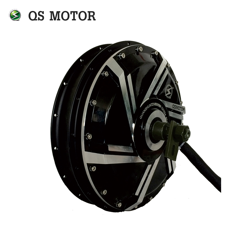 Powerful QS Motor 8000W 273 50H V3 48V 10000W 20kW Peak Brushless DC Electric Motorcycle Spoke Hub Motor