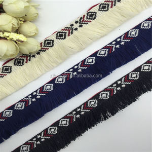 Classic Clothing Accessories Jean Accessories Navy Blue, Black,White Color Ethnic Embroidery Tassel Lace