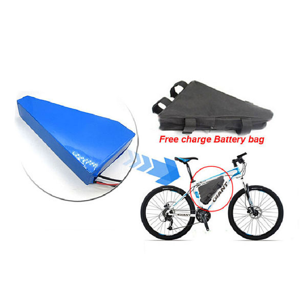 Bike Triangle Li-ion Battery Storage Bag Black Bicycle Electric Battery Cover