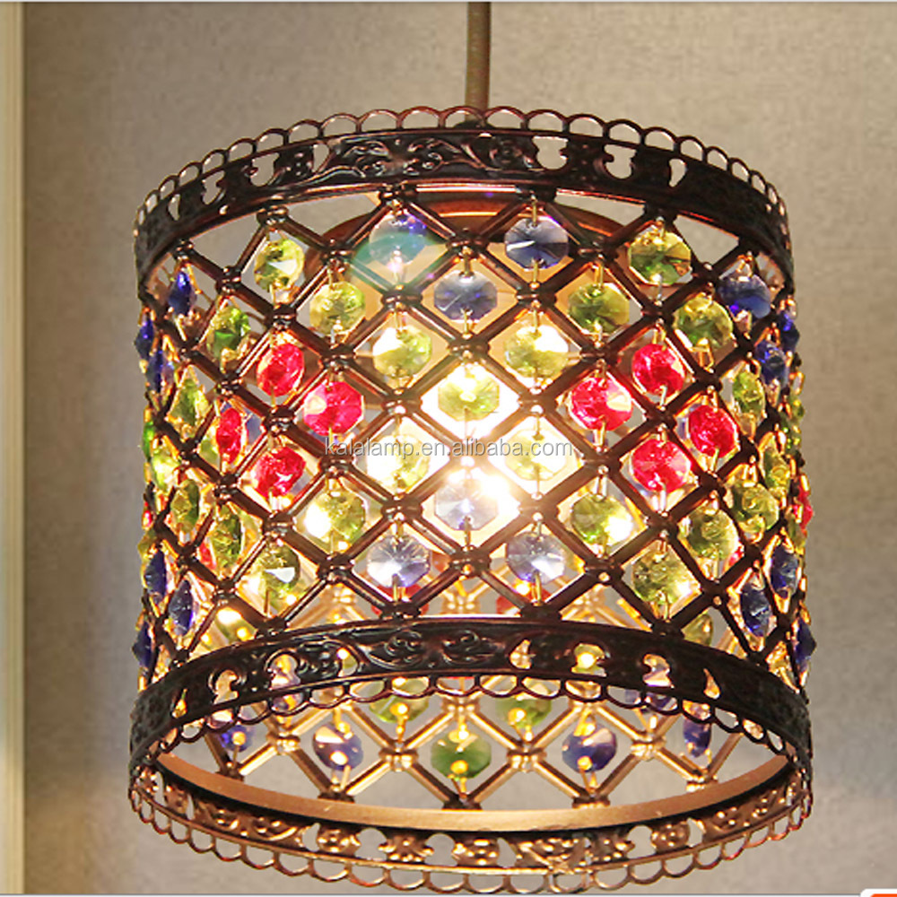 Zhongshan Fabricant Professionnel Spécial Cristal Pendentif Marocaine Lampe