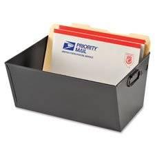 """Posting Tub, Legal File, 15-1/8""""""""x11-3/8""""""""x7"""""""", Black, Sold as 1 Each"""