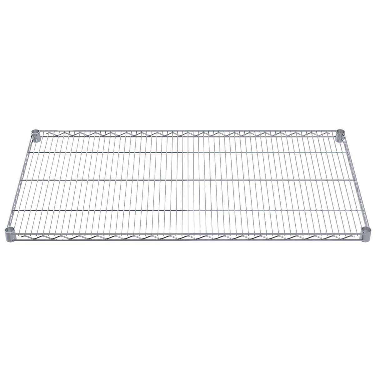 Akro-Mils AWS2448SHELF 24-Inch X 48-Inch NSF Approved Industrial Grade Chrome Wire Shelf, 4-Pack