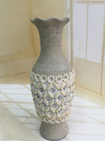 New style frosted glass flower vase insert diamond for home decorativon or gift
