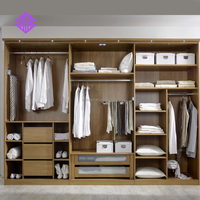 white bedroom wall wardrobe design