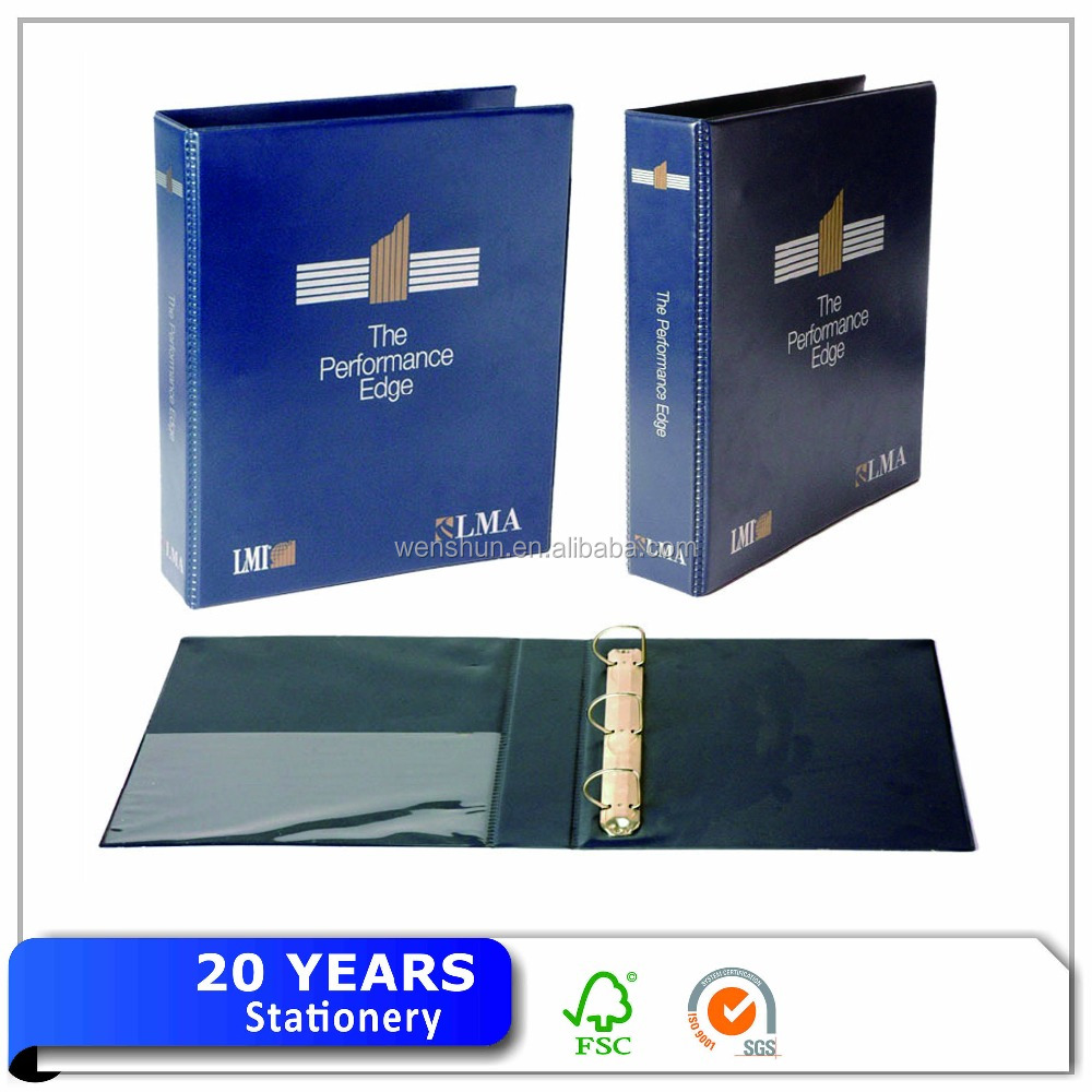 Customized PVC Material 2D Ring 3D Ring Binder With Clear Pocket