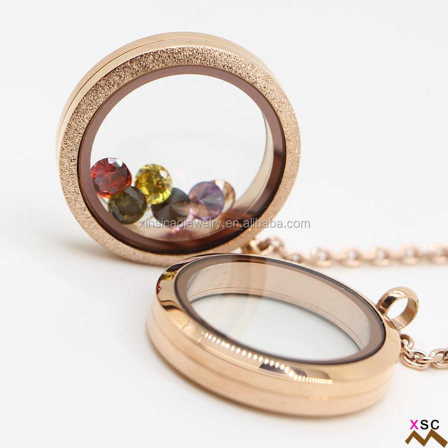 babc82335578 Tarifa de envío gratis a EE UU brillo nuevo estilo memoria vida flotante  vidrio medallón Medallón de Oro diseños para dama joyería