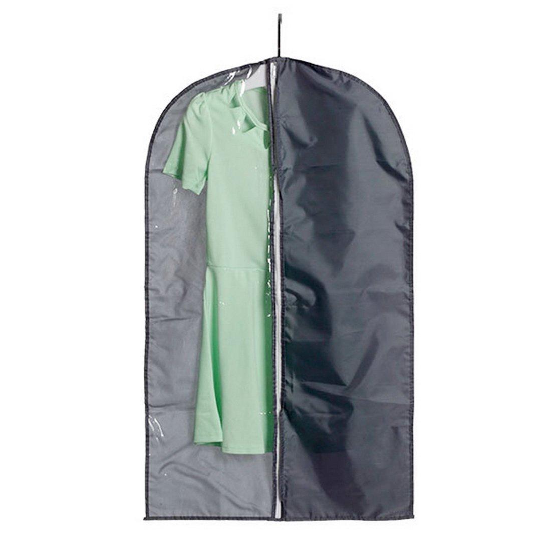 Hoomall Breathable Garment Bags Garment Covers Suit Bag Suit Carriers Dustproof 58x135cm Deep Grey