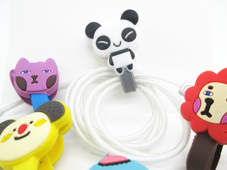 high quality customized injection pvc rubber creative gift silicone earphone cable winder
