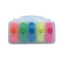 Hot Sell Cute Mini Fluorescent Highlighter Marker Pen With PP box Package