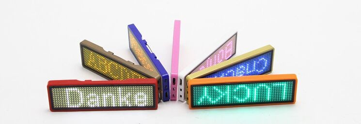 USB Programmable Small LED Sign- Red/Blue/White/Yellow/Green/Pink color