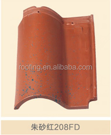 New building construction materials spanish clay matt double color ceramic roof tile for kerala villa