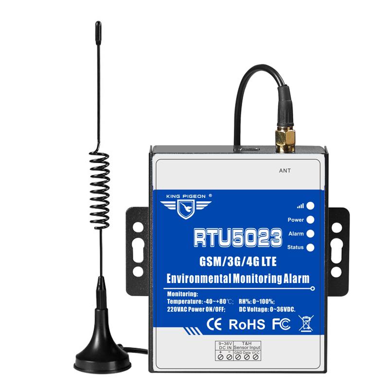 King Pigeon GSM 3G 4G LTE สิ่งแวดล้อมการตรวจสอบนาฬิกาปลุกสนับสนุน Modbus RTU5023