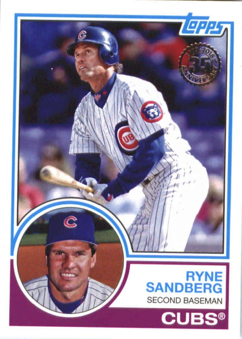 2018 Topps '83 Topps #83-1 Ryne Sandberg Chicago Cubs Baseball Card