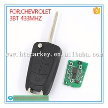 Wholesale universal remote control car key 433 mhz for chevrolet flip key