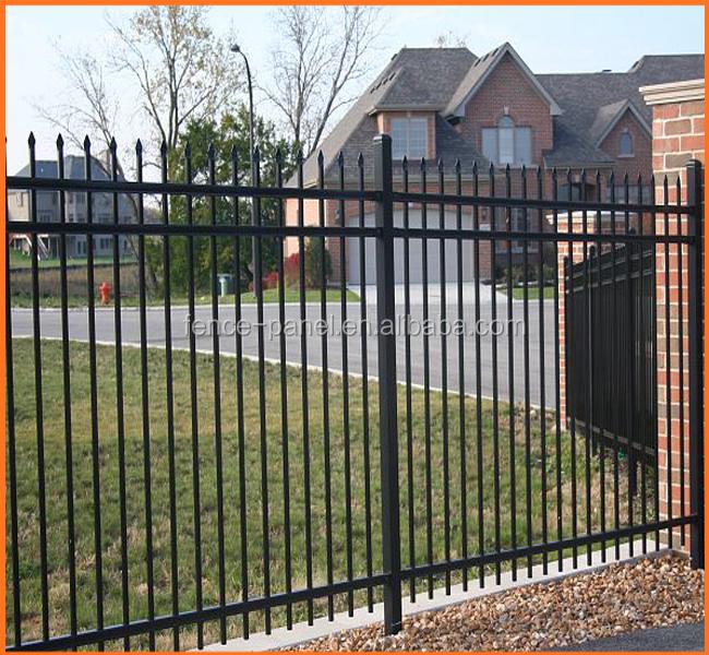 Decorative wrought iron ornamental metal railing and
