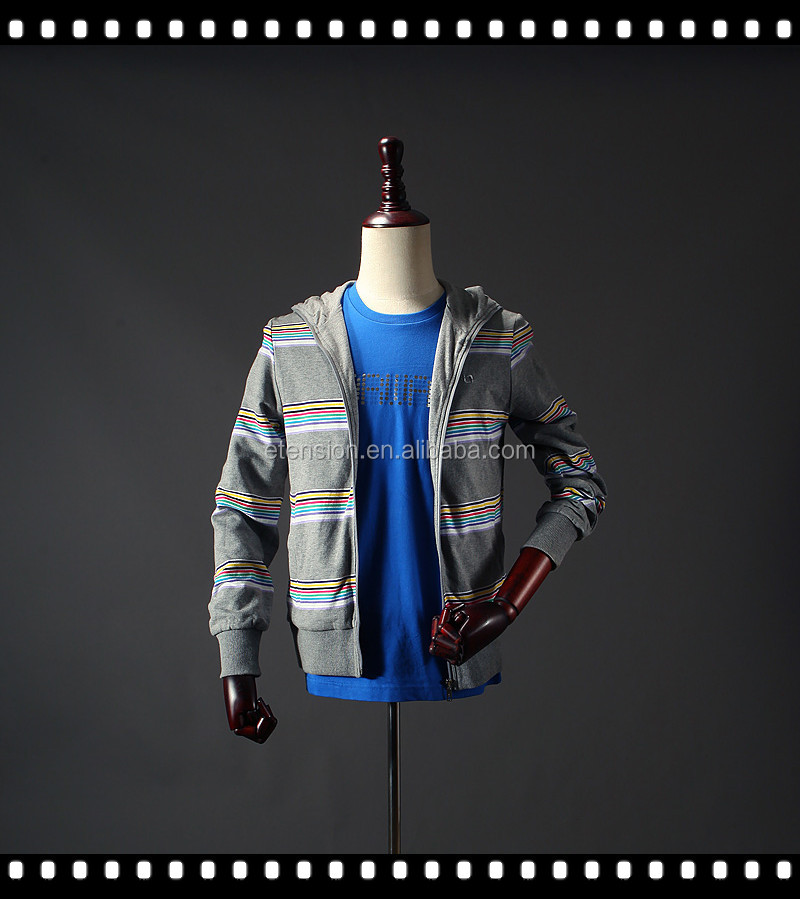 Cheap Fashion Stripe Men Casual Club Serape Print Jacket