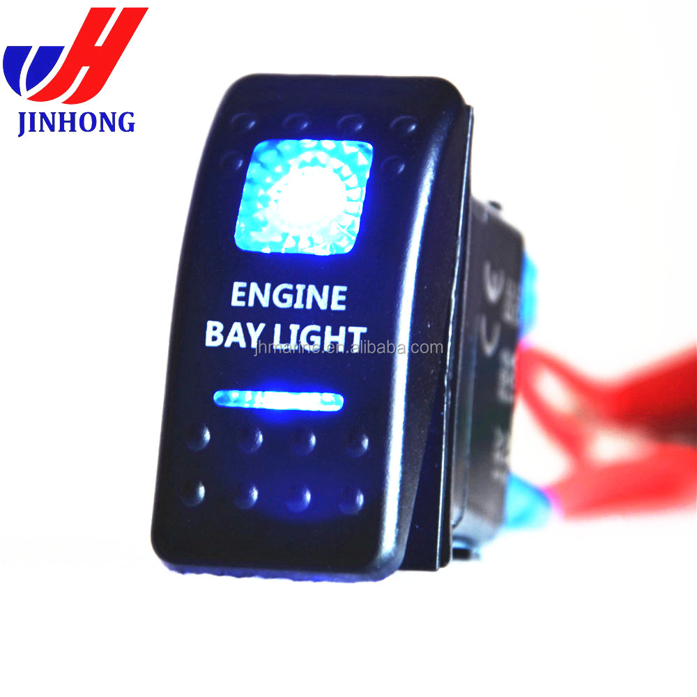 12v Illuminated Logo Led Rocker Switch Waterproof Carling With Legend Offroad Lights For Marine Car Motorcycle Buy Switchcarling