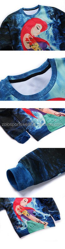 Cheap Custom Sublimation Red Fleece Pullover Crew Neck Hoodies Sweatshirts For womens