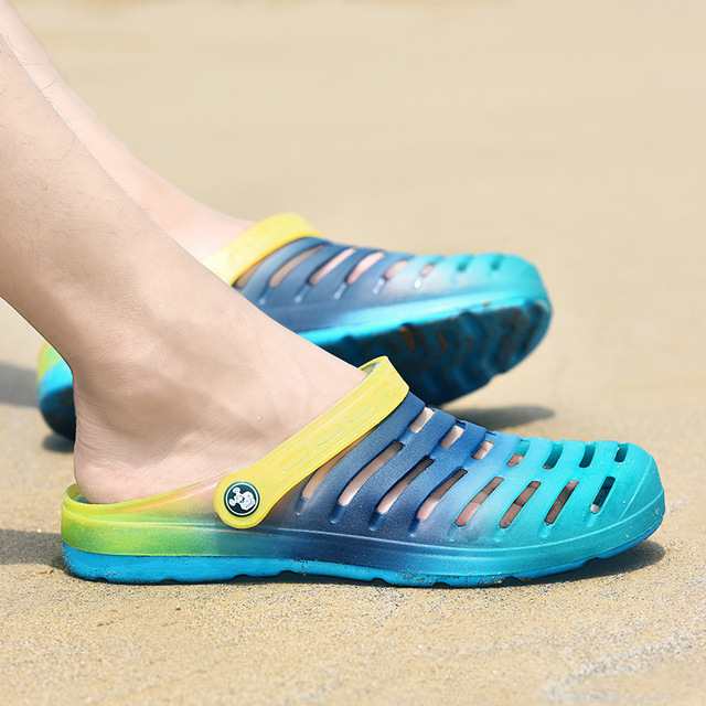 65ee8cb633f7f factory directly sells new garden shoes men s summer sandals jelly beach  shoes