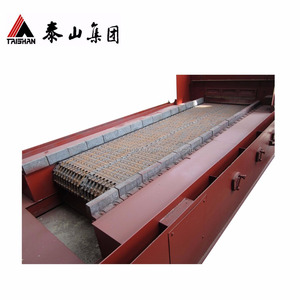 Coal fired boiler traveling chain grate stoker