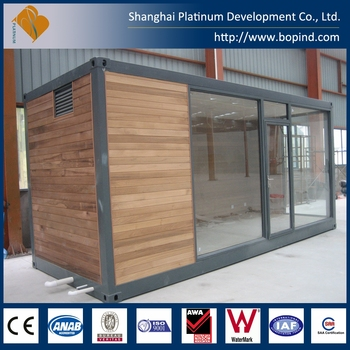 Prefab Modern Shipping Container House Office With Glass Wall For ...