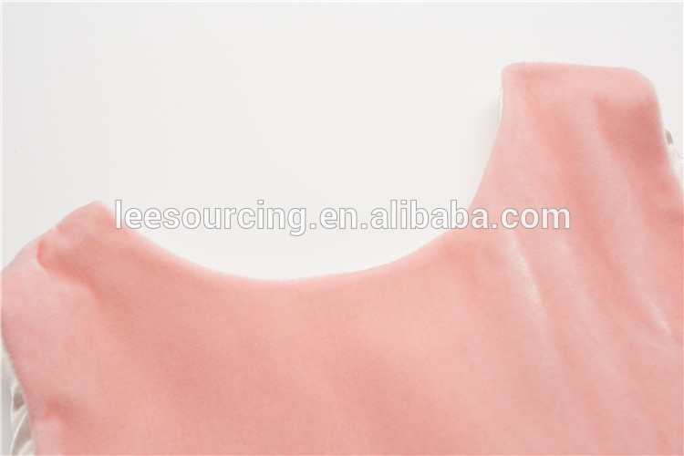 Pink Velour Party Princess Girls Dress Fashion Sleeveless Vest Tulle Flower Girl Dresses
