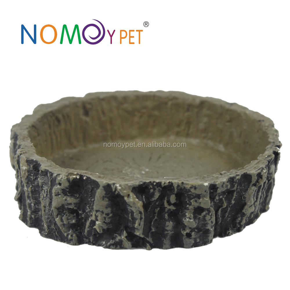 NOMOY PET Eco-Friendly Feature fake old wood root reptile mini bowl with nice looking NS-42