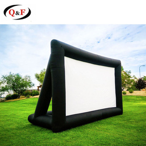 Outdoor inflatable rear projection projector screen