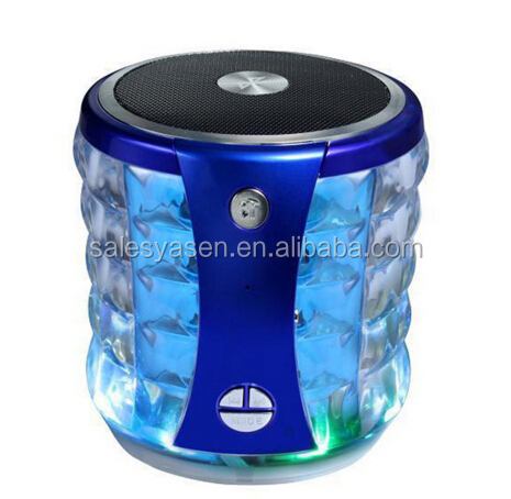Mini Portable bluetooth speaker wireless Stereo T-2096A LED Speakers Subwoofers with mic for Cellphones PC Laptop
