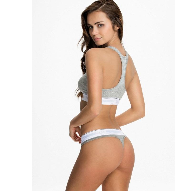 d74a20c966ab9 Bra panties sets women vest sexy thongs custom made logo brand underwear