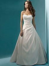 Elegantné svadobné šaty bez ramienok z Aliexpress