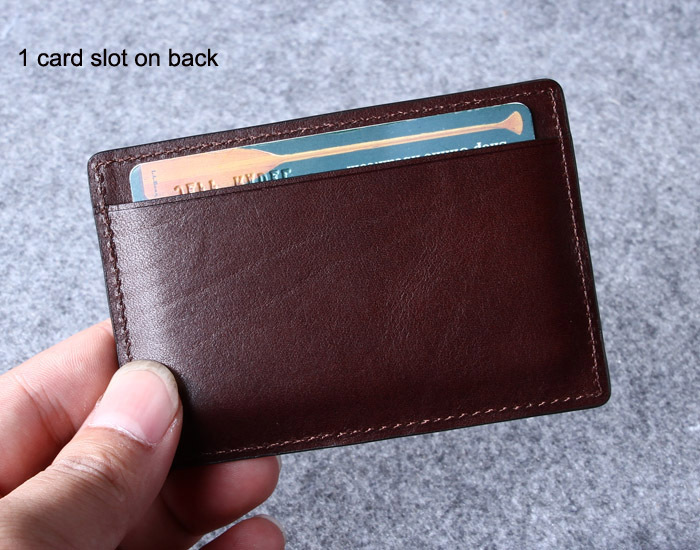 Genuine Leather Atm Card Holder /man's Leather Credit Card Case ...